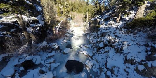 Semi Frozen River